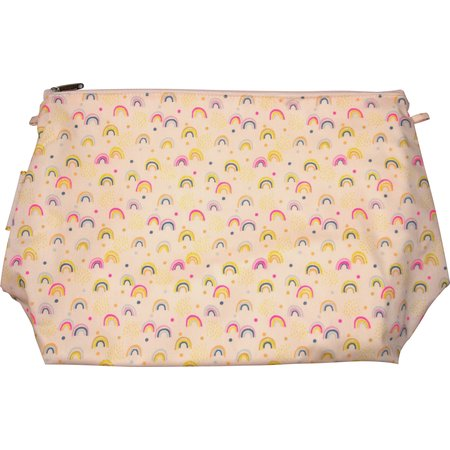 Cosmetic bag with flap rainbow