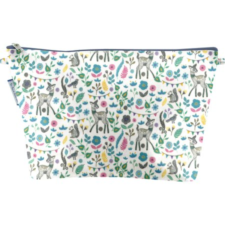 Cosmetic bag with flap tales and legends