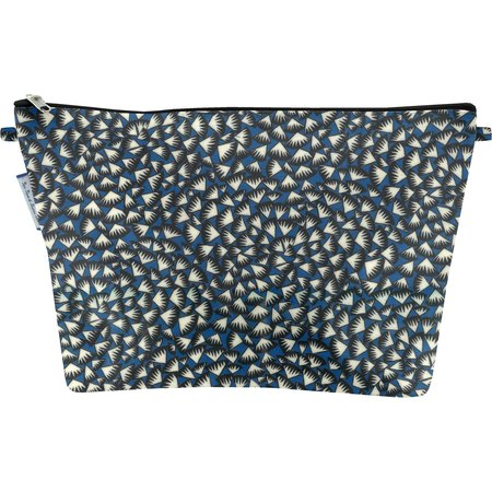 Cosmetic bag with flap parts blue night