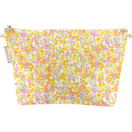 Cosmetic bag with flap mimosa jaune rose