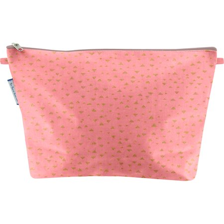 Cosmetic bag with flap triangle or poudré