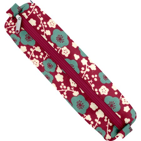 Round pencil case ruby cherry tree
