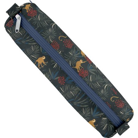 Round pencil case jungle party