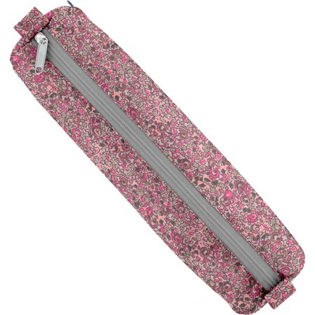 Trousse ronde lichen prune rose
