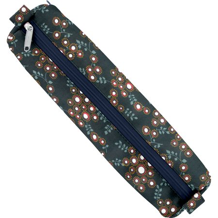 Round pencil case fireflies