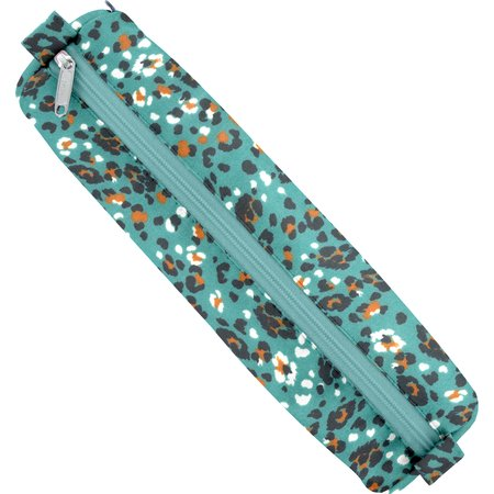 Round pencil case jade panther