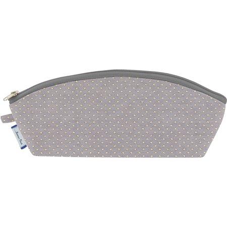 Pencil case etoile or gris