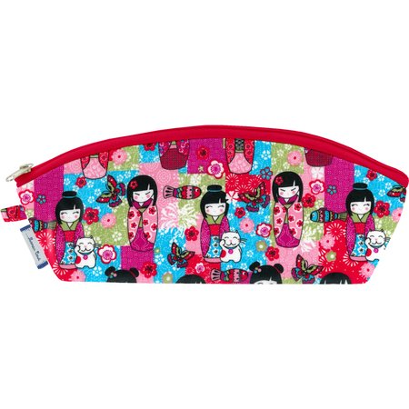 Pencil case kokeshis