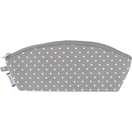 Pencil case light grey spots