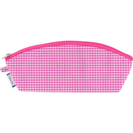Pencil case fuschia gingham