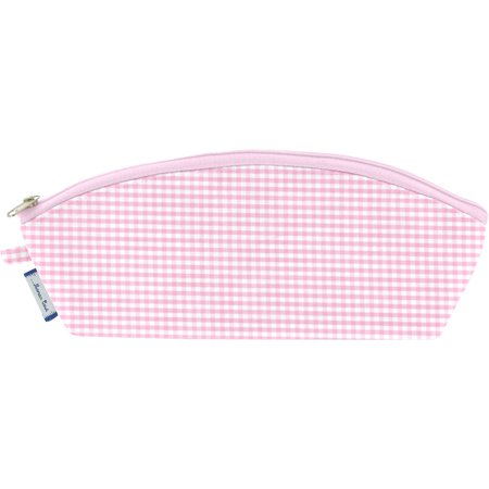 Pencil case pink gingham