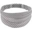 Headscarf headband- Adult size light grey spots - PPMC