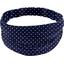 Headscarf headband- Adult size navy blue spots - PPMC