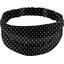 Headscarf headband- Adult size black spots - PPMC