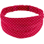 Headscarf headband- Adult size red spots - PPMC