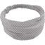Headscarf headband- Baby size light grey spots - PPMC