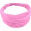 Headscarf headband- Baby size pink spots