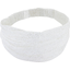 Headscarf headband- Baby size white sequined - PPMC