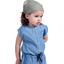 Turbantes para bebé etoile or gris