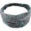 Turbantes para bebé flor verde azul - PPMC