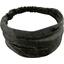 Headscarf headband- Baby size noir pailleté - PPMC