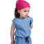 Headscarf headband- Baby size fuschia spots