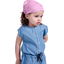 Headscarf headband- Baby size fuschia gingham