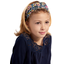Bandeau fichu Enfant dahlia rose marine