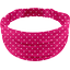 Headscarf headband- child size fuschia spots - PPMC