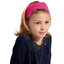 Headscarf headband- child size fuschia spots