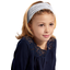Headscarf headband- child size light grey spots