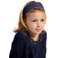 Headscarf headband- child size navy blue spots