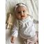 Bandeau jersey bébé noeud  blanc pailleté