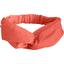 crossed headband gaze dentelle corail - PPMC