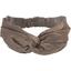 crossed headband copper linen - PPMC