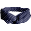 crossed headband navy blue spots - PPMC