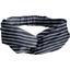 crossed headband striped silver dark blue - PPMC