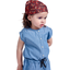 Headscarf headband- Baby size vermilion foliage