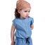 Headscarf headband- Baby size peach flower