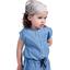 Headscarf headband- Baby size triangle cuivré gris