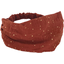Bandeau fichu Enfant gaze terracotta or - PPMC