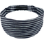 Headscarf headband- child size striped silver dark blue