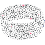 Turbantes elasticos   j blanc motif noir fluo - PPMC