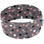 Stretch jersey headband  pois gris rose - PPMC
