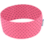 Stretch jersey headband  rose pois noir