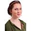 Plait hairband-adult size rose pailleté