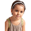 Plait hairband-children size white sequined