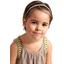 Plait hairband-children size gold linen