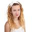 Wire headband retro white sequined