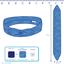 Wire headband retro navy blue